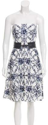 Marchesa Floral Print Faille Dress w/ Tags