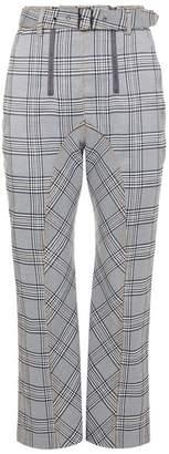 Self-Portrait Check Zip Front Trousers