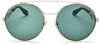 Givenchy Double Brow Bar Oversized Round Polarized Sunglasses, 60mm $405 thestylecure.com