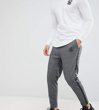 SikSilk crop pants in dark gray herringbone