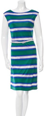 pradaPrada Belted Printed Dress