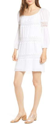 Bailey 44 Mykonos Lace Detail Long Sleeve Cotton Shift Dress