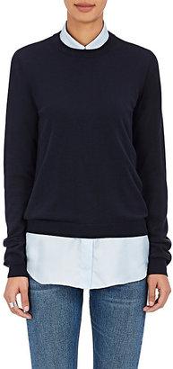 Maison Margiela Women's Cotton Elbow-Patch Sweater $495 thestylecure.com