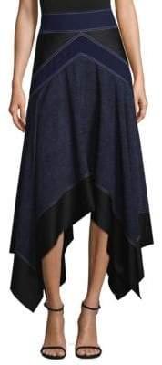 Diane von Furstenberg Colorblock Midi Skirt