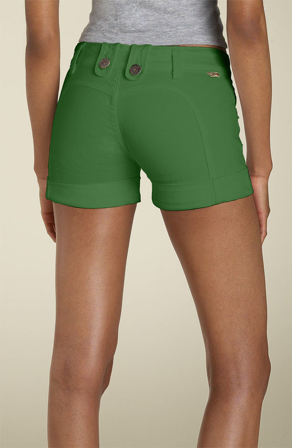 Dittos 'Betty Saddleback' Stretch Denim Shorts