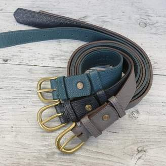 Aura Que Fair Trade Handcrafted Unisex Narrow Leather Belt