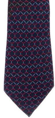Hermes Ribbon Chain-Link Silk Tie
