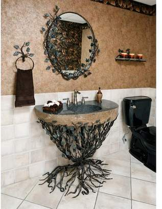 """Quiescence Organic Suites Metal 25"""" Pedestal Bathroom Sink Sink"""