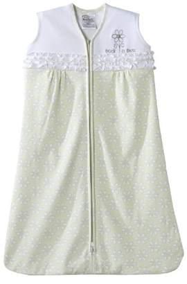 Halo Sleepsack Wearable Cotton Blanket (0-6- Months, Light Green Eyelet)