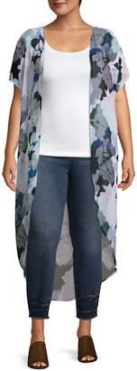 Boutique + + Elbow Sleeve Kimono- Plus