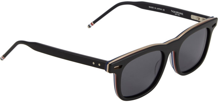 Thom Browne Rounded-Square-Frame Sunglasses