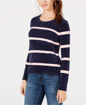 Maison Jules Striped Chenille Sweater