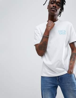 Santa Cruz Extinct Hand print t-shirt in white