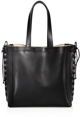 Max Mara Side Stitch Large Leather Tote $930 thestylecure.com