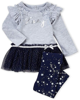 Nautica Infant Girls) Two-Piece Tommy Tutu Tunic & Star Print Leggings Set