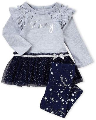 f73657be40d99 Nautica Infant Girls) Two-Piece Tommy Tutu Tunic & Star Print Leggings Set