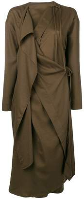 Lemaire draped wrap front dress