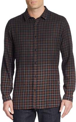 The Kooples Men's Ombré Plaid Cotton Sportshirt