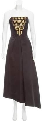 Osman Strapless Evening Dress w/ Tags