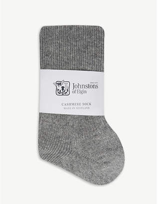 Johnstons Ribbed cashmere socks