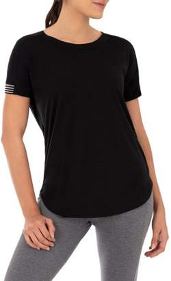 Athletic Works Women's Tape Short Sleeve T-Shirt
