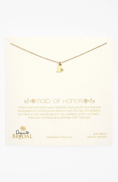 Dogeared 'Maid of Honor - Heart' Pendant Necklace (Nordstrom Exclusive)