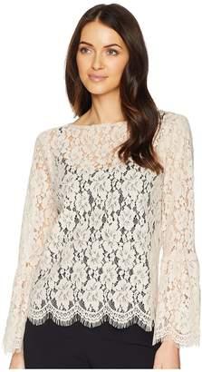 Karen Kane Bell Sleeve Lace Top Women's Clothing