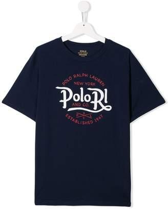Ralph Lauren Kids TEEN Polo print T-shirt