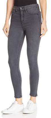 Rag & Bone High-Rise Cropped Slit-Hem Skinny Jeans in Ranti