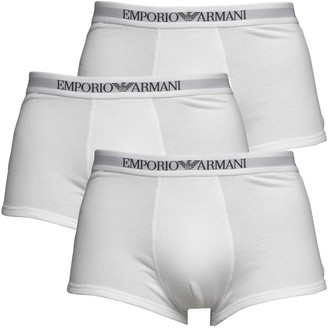 Emporio Armani Mens Three Pack Trunks White/White/White