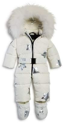 SAM. Girls' Fur-Trimmed Star Print Snowbunny Suit - Baby