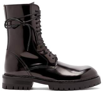 Ann Demeulemeester Lace Up Leather Boots - Womens - Black
