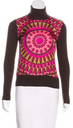 Tory Burch Silk & Cashmere Long Sleeve Top