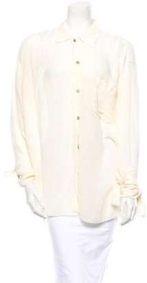Jean Paul Gaultier Button Up Top $125 thestylecure.com