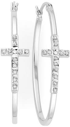 Silver Cross FINE JEWELRY Diamond Fascination Sterling Hoop Earrings