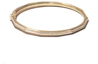 David Yurman 18kt yellow gold Stax faceted diamond bangle