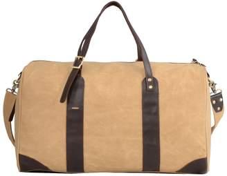EAZO - Waxed Canvas Leather Weekend Bag Tan