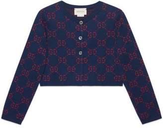 Gucci Children's GG cotton lurex cardigan