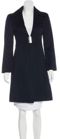 Valentino Valentino Virgin Wool & Cashmere-Blend Knee-Length Coat
