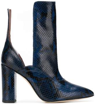 Paris Texas contrast pointed boots