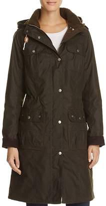 Barbour Winterton Faux Shearling Collar Coat $449 thestylecure.com