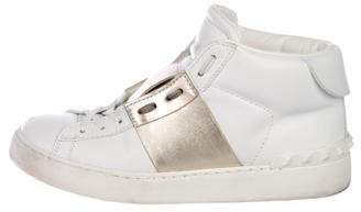 Valentino Rockstud Punkouture Leather Sneakers