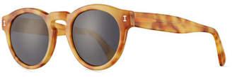 Illesteva Leonard Monochromatic Round Sunglasses, Blonde Havana
