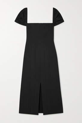 Brock Collection Odilia Cotton-poplin Midi Dress - Midnight blue