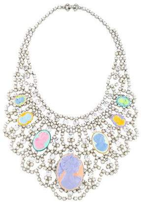 Tom Binns Faux Pearl, Crystal & Cameo Collar Necklace