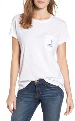 Women's Vineyard Vines Coastal Short Sleeve Pocket Tee $49.50 thestylecure.com