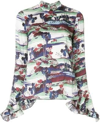 Erdem frilled cuffs blouse