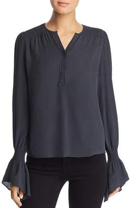 Go Silk Go by Crinkled Bell Sleeve Blouse