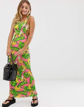 Love Moschino banana print maxi dress
