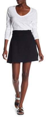 James Perse A-Line Brushed Jersey Skirt
